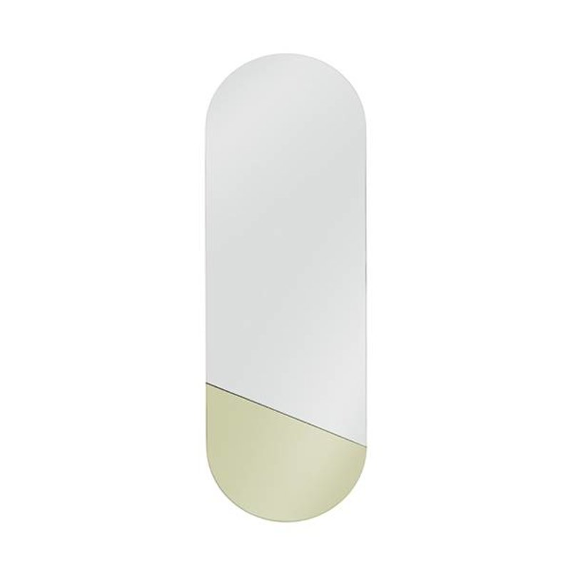 HK living-collectie oval mirror M gold