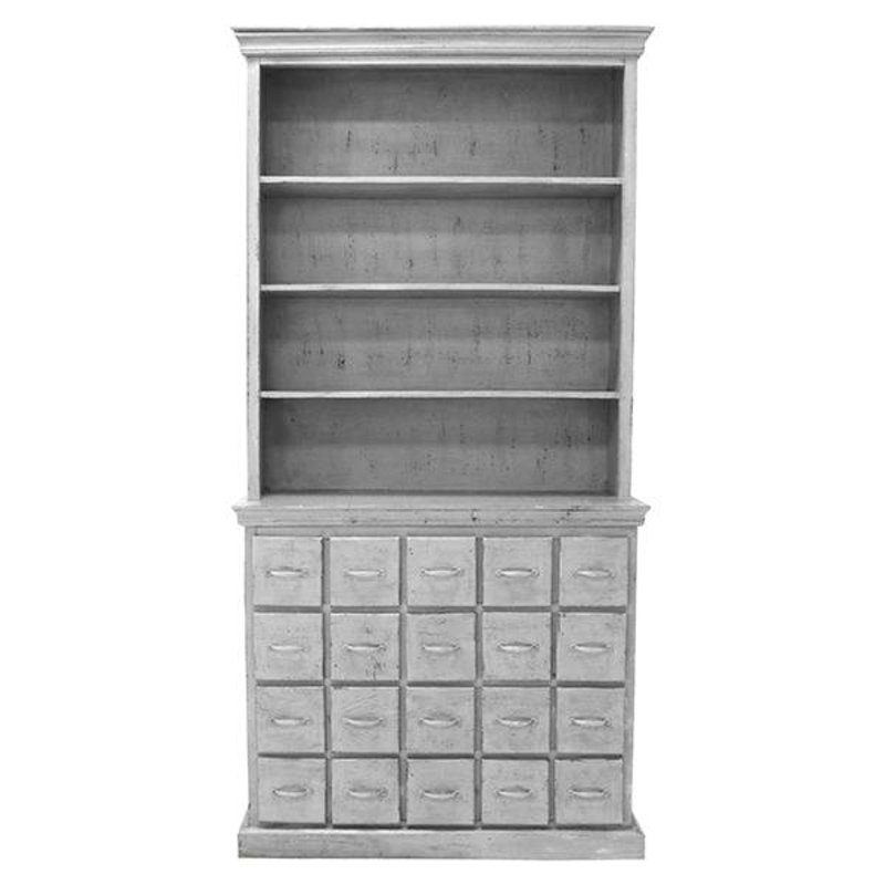 HKliving-collectie drawer cabinet antique look grey