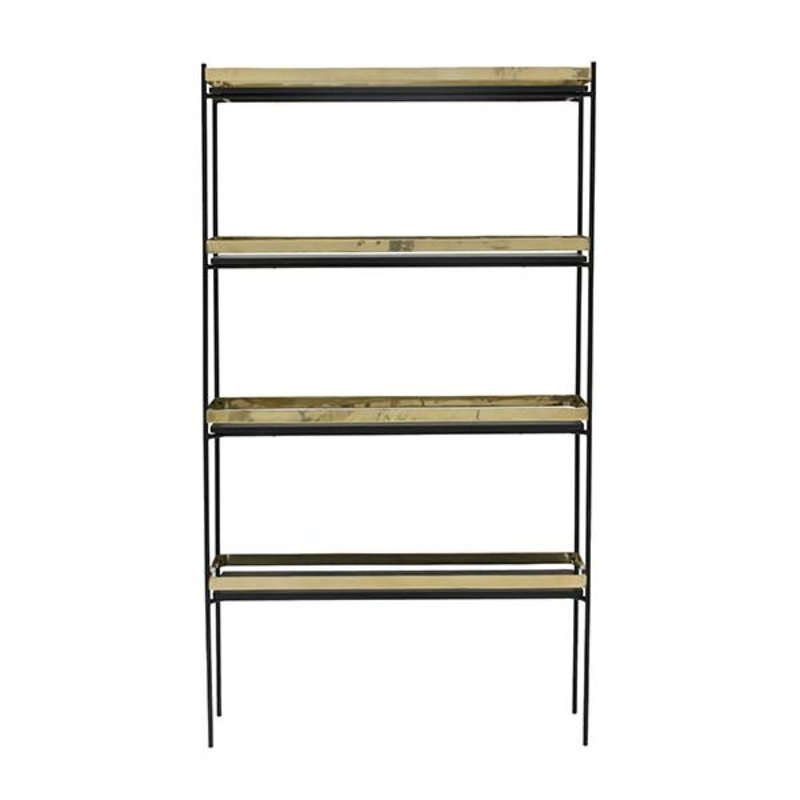 HKliving-collectie Displayrack zwart - messing