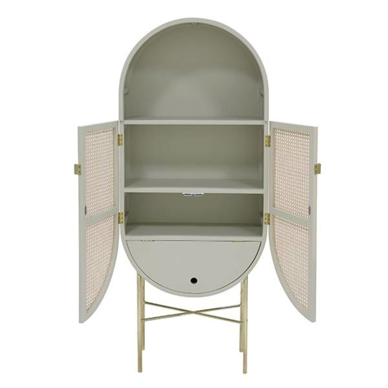 HKliving-collectie retro oval cabinet light grey