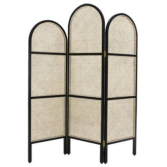 HK living webbing room divider black