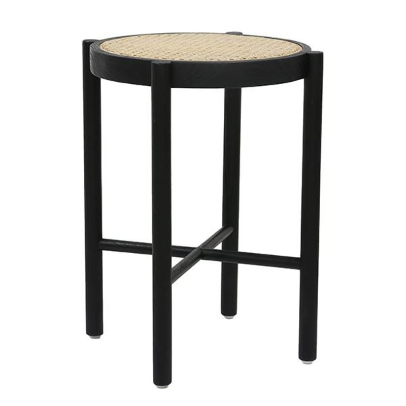 HKliving-collectie retro webbing stool black