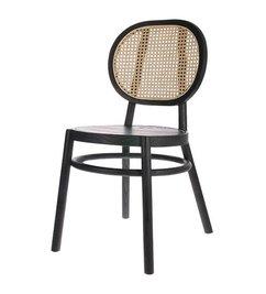 HK living-collectie Retro webbing stoel zwart