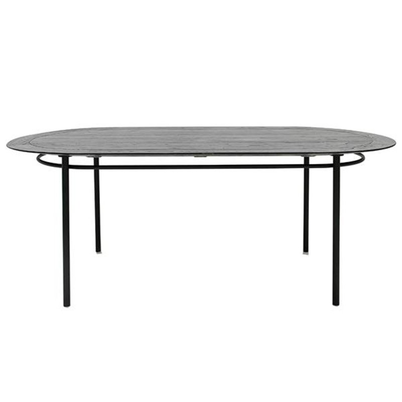 HKliving-collectie oval dining table black