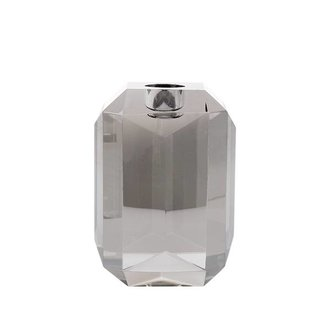 HKliving crystal glass candle holder grey diamond