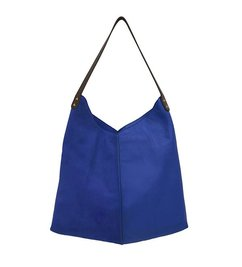 HK living  leather bag electric blue