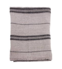 HK living-collectie natural/striped linnen table cloth (140x220)