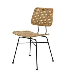 HK living-collectie rattan desk chair natural