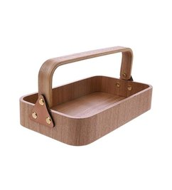 HK living  willow wooden box 1 handle
