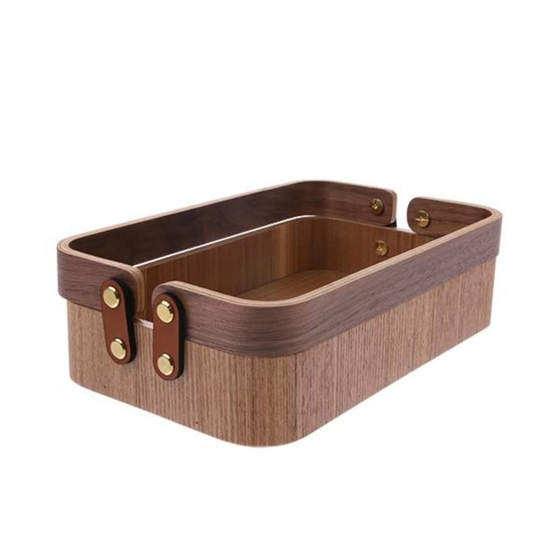 HKliving-collectie willow wooden box 2 handles