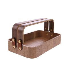 HK living  willow wooden box 2 handles