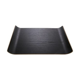 HK living black willow wooden tray M