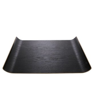 HK living black willow wooden tray L