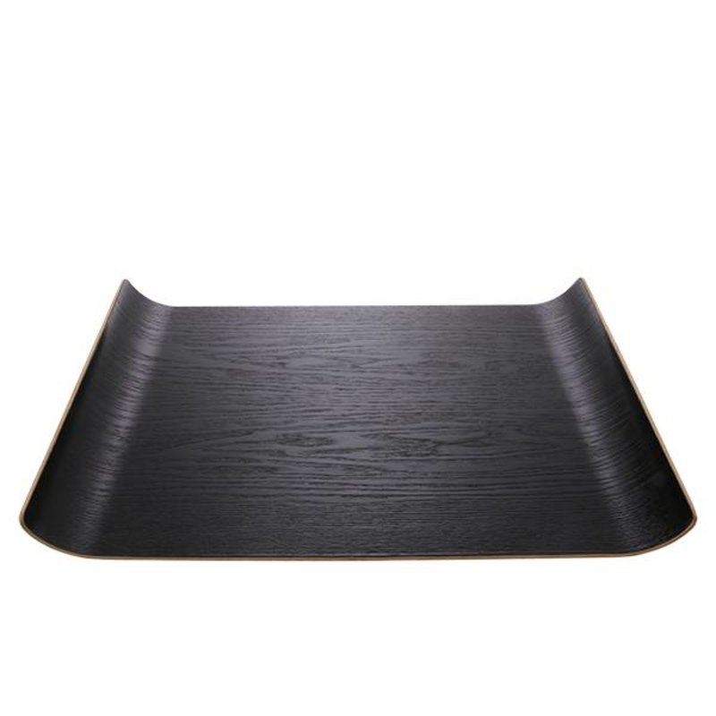 HK living-collectie black willow wooden tray L