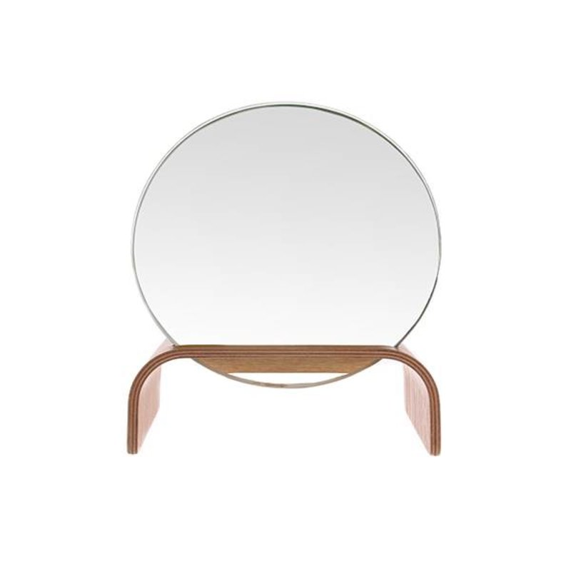 HK living-collectie willow wooden mirror stand