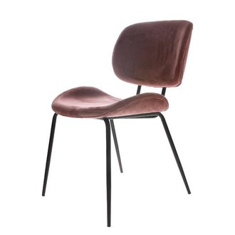 HK living dining chair velvet nude