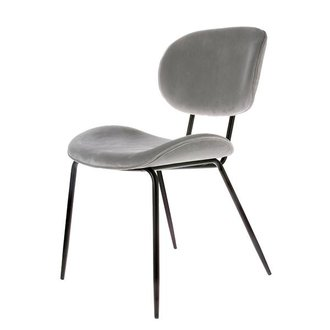 HK living dining chair velvet cool grey