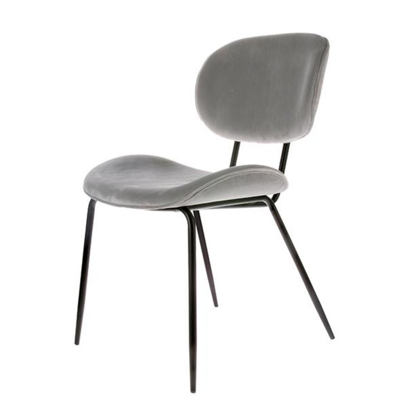 HK living-collectie dining chair velvet cool grey
