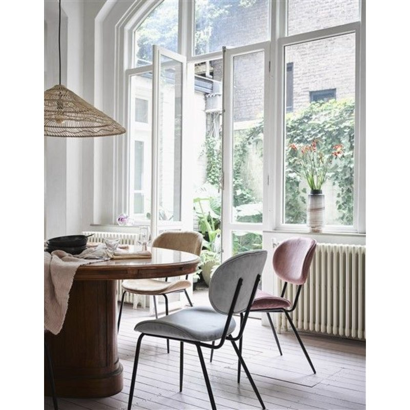 HKliving-collectie dining chair velvet cool grey