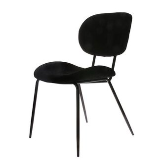 HK living dining chair rib black