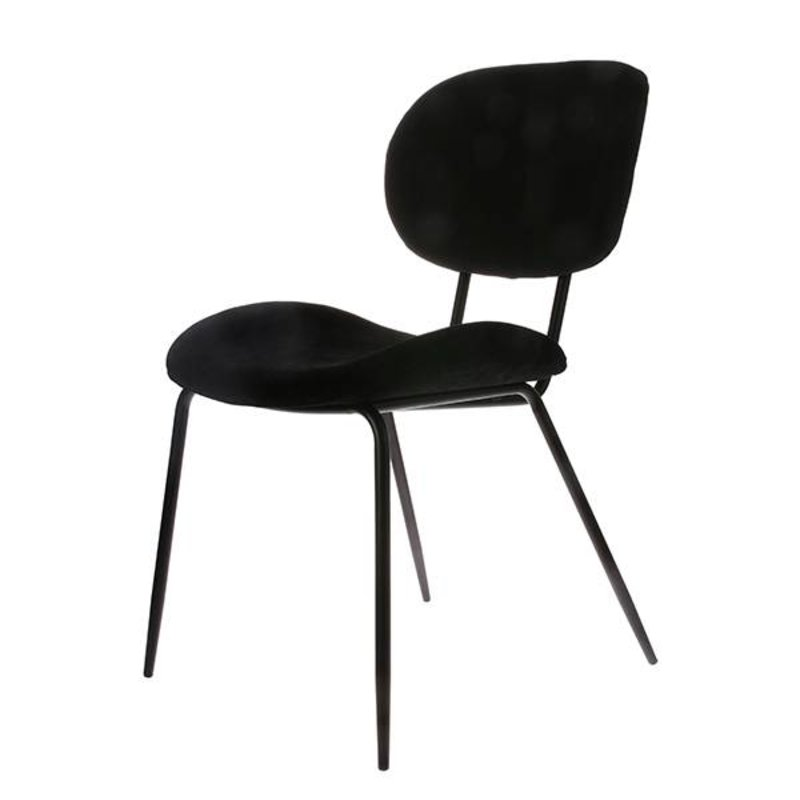 HK living-collectie dining chair rib black