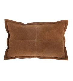 HK living-collectie suede cushion brown (50x35)