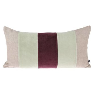 HK living velvet cushion mint/cerise (30x60)