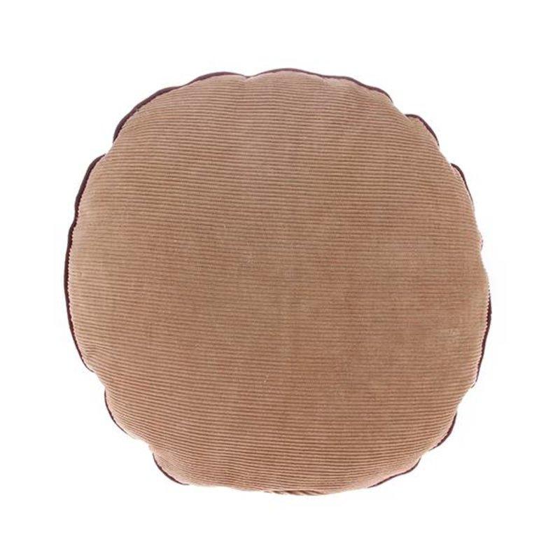 HK living-collectie Corduroy rond sierkussen bruin