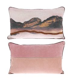 HK living  double-sided cushion stitched landscape (60x35)