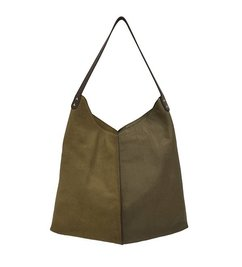HK living-collectie leather bag moss green