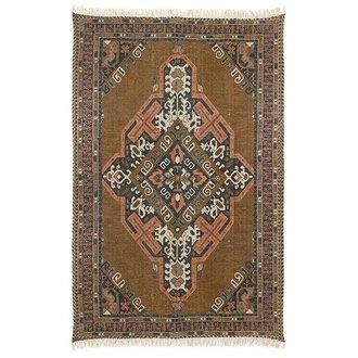 HKliving printed cotton/jute rug stonewashed (180x280)