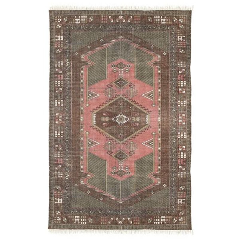 HKliving-collectie printed cotton rug stonewashed (120x180)