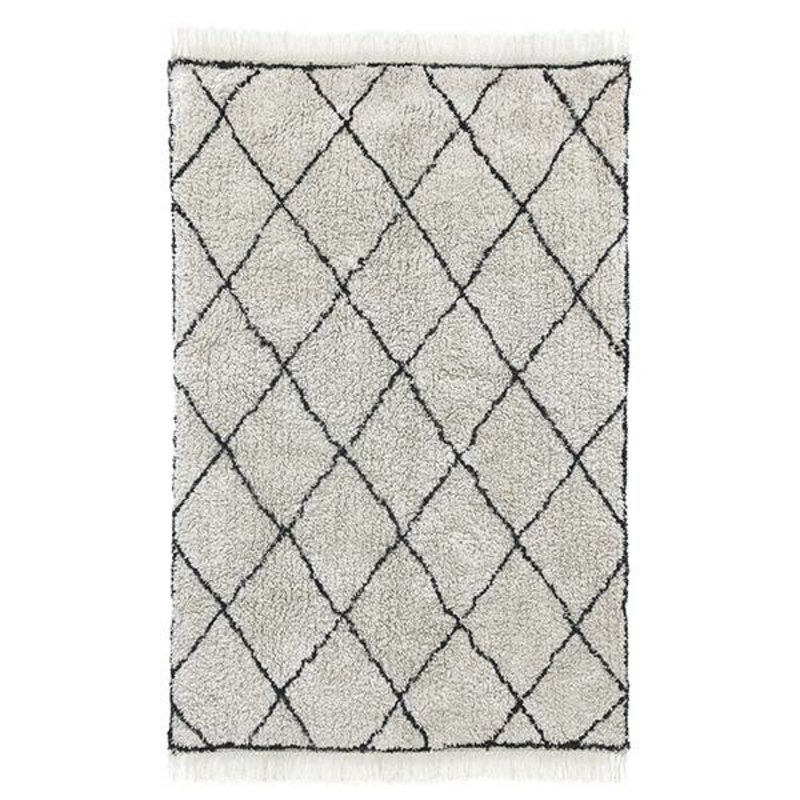 HKliving-collectie cotton diamond rug (120x180)