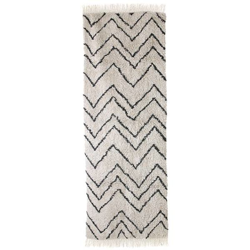 HKliving-collectie cotton zigzag runner (75x220)