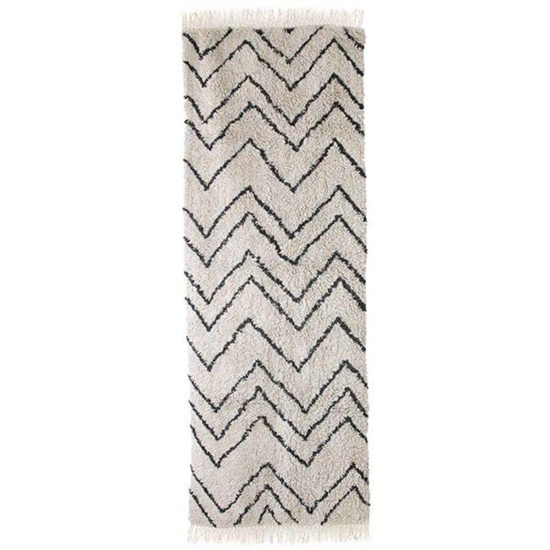HKliving-collectie Katoenen loper Zigzag 75x220