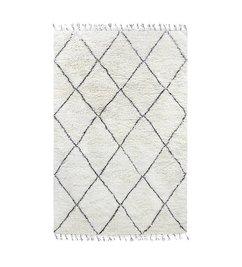 HK living  woolen berber rug black/white (180x280)