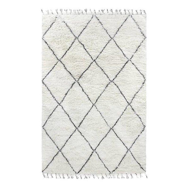 HKliving-collectie woolen berber rug black/white (180x280)