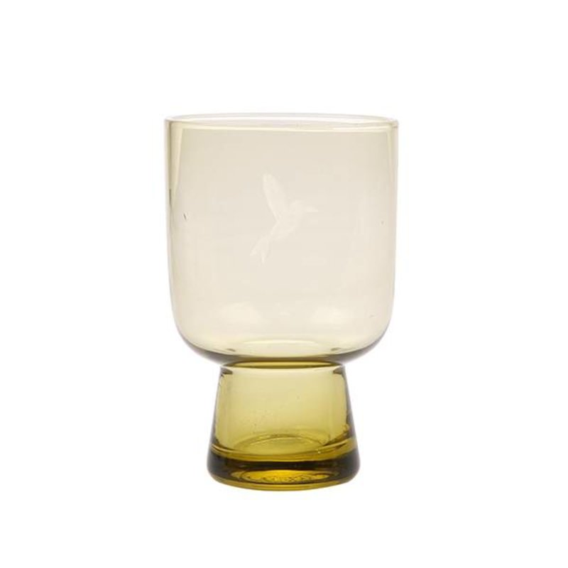 HK living-collectie chartreuse glass L engraved