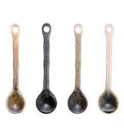 HK living-collectie japanese ceramic tea spoons (set of 4)