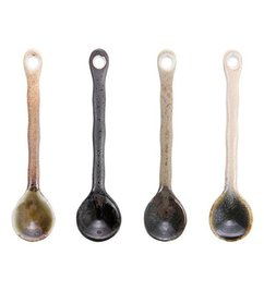 HK living  japanese ceramic tea spoons (set of 4)
