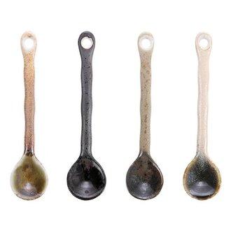 HKliving japanese ceramic tea spoons (set of 4)