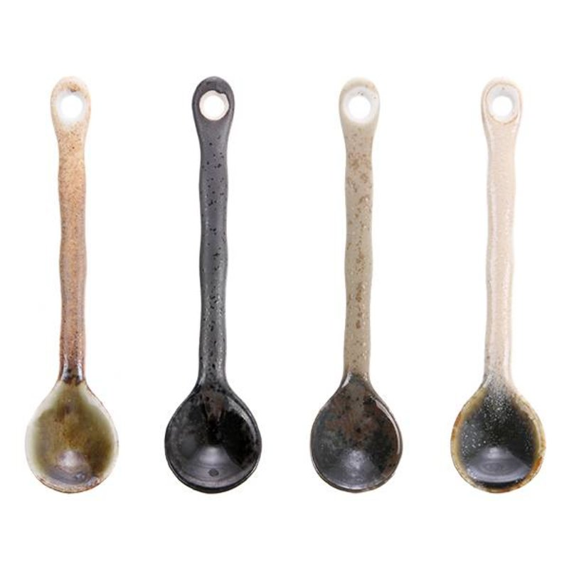 HK living-collectie japanese ceramic tea spoons (set of 4)