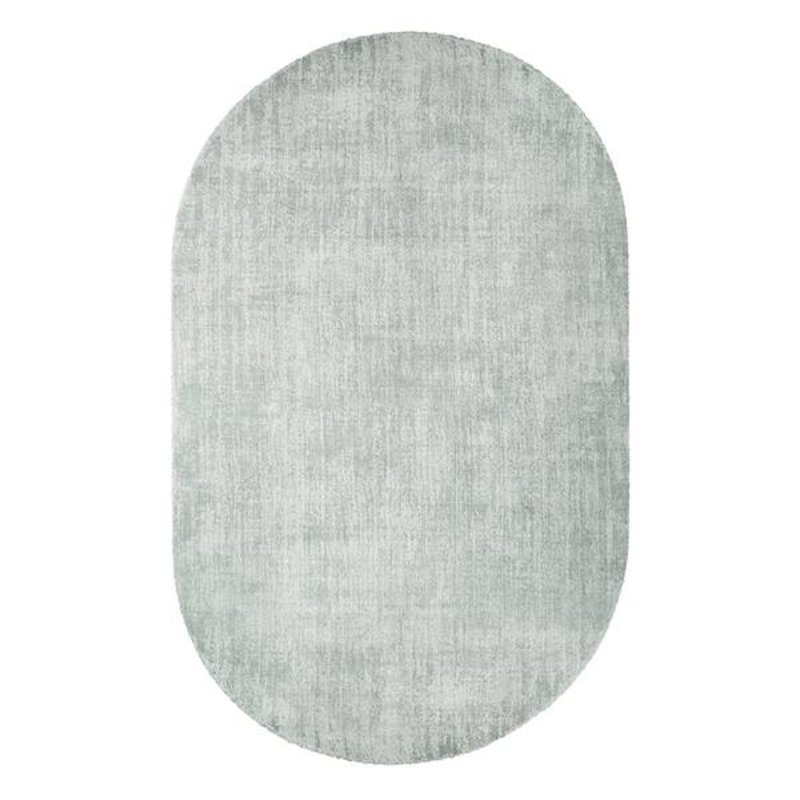HK living-collectie oval viscose rug mint green