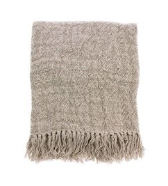 HK living  linen throw natural (130x170)