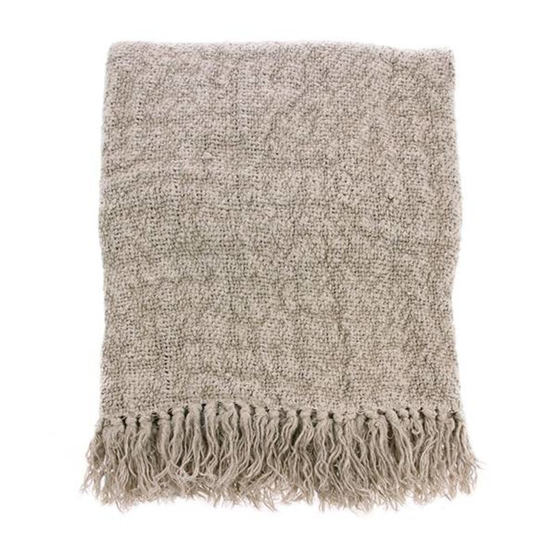 HKliving-collectie linen throw natural (130x170)