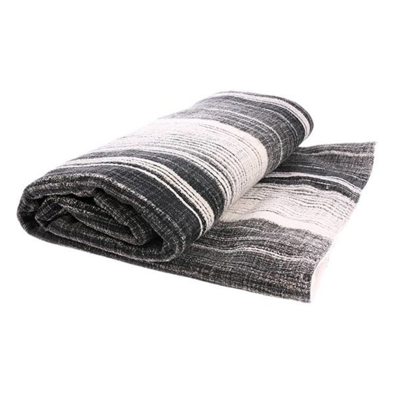 HK living-collectie striped sherpa throw (130x160)