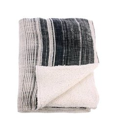 HK living  striped sherpa throw (130x160)