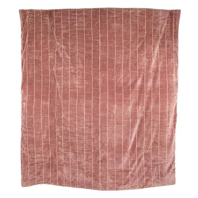 HKliving-collectie bedspread shabby velvet nude (225x255)