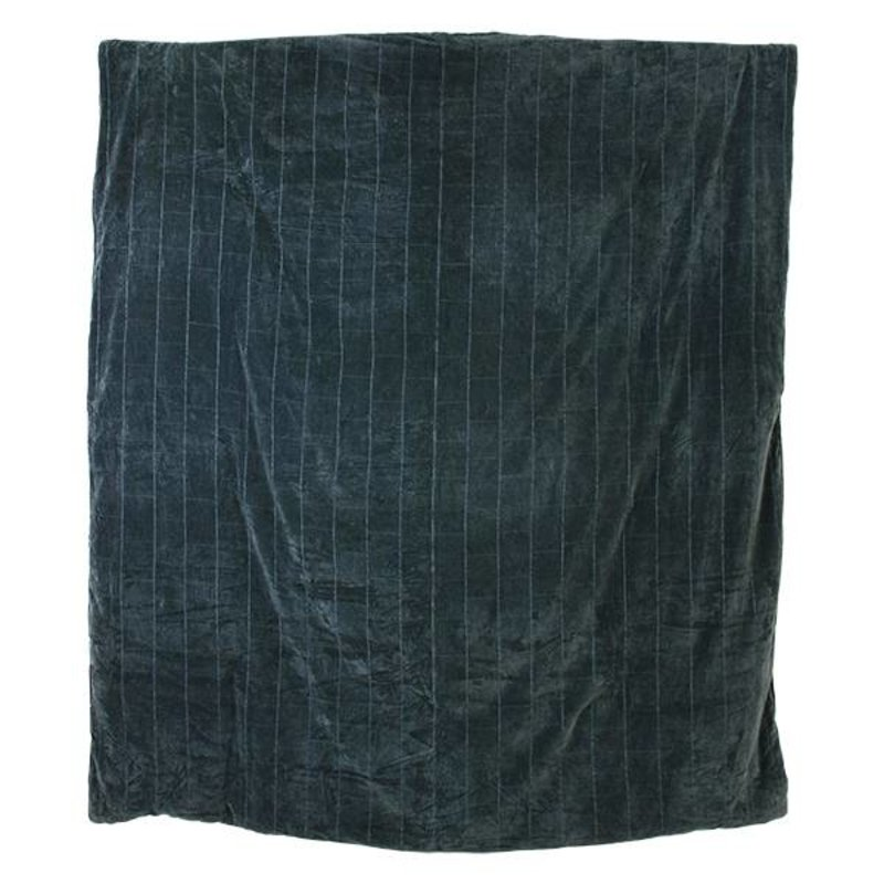 HK living-collectie bedspread shabby velvet green/blue (225x255)