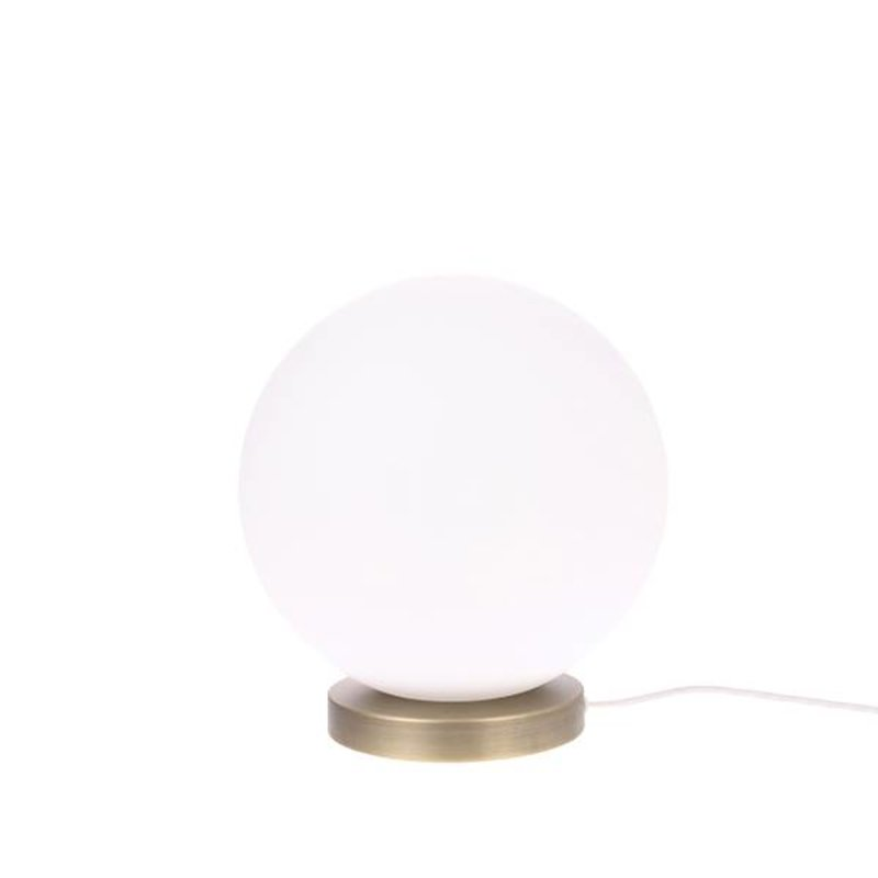 HKliving-collectie Glazen bol lamp wit M